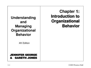 Chapter 1: Introduction to Organizational Behavior
