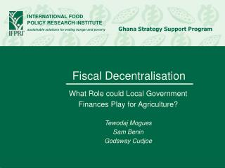 Fiscal Decentralisation