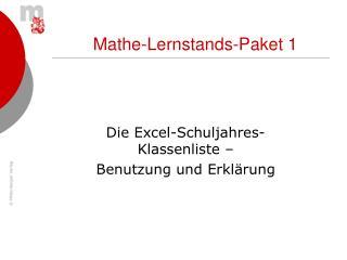 Mathe-Lernstands-Paket 1