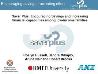 Encouraging savings, rewarding effort