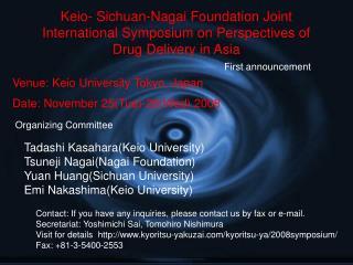 Venue: Keio University Tokyo, Japan