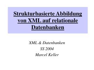 Strukturbasierte Abbildung von XML auf relationale Datenbanken