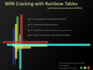 WPA Cracking with Rainbow Tables