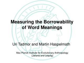 The Loanword Typology Project