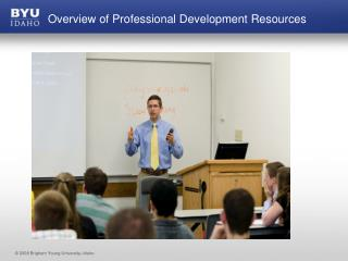 Overview of Professional Development Resources