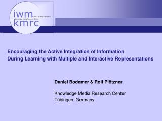 Encouraging the Active Integration of Information  During Learning with Multiple and Interactive Representations