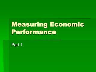 Measuring Economic Performance
