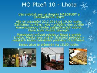 MO Plzeň 10 - Lhota