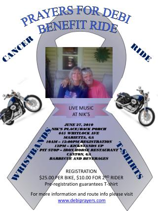PRAYERS FOR DEBI  BENEFIT RIDE