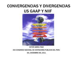 CONVERGENCIAS Y DIVERGENCIAS                       US GAAP Y NIIF