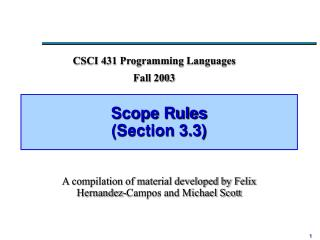 Scope Rules Section 3.3