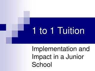 1 to 1 Tuition