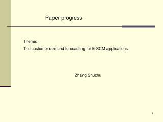 Paper progress