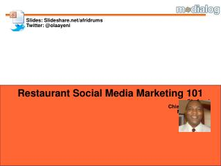 Restaurant Social Media Marketing 101 Ola Ayeni