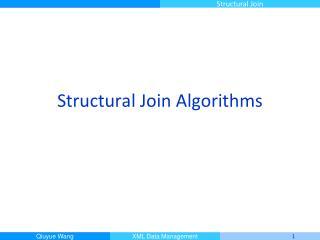 Structural Join Algorithms