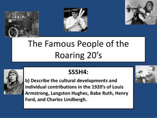 The Famous People of the Roaring 20's
