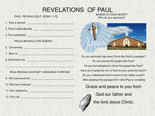 REVELATIONS  OF PAUL