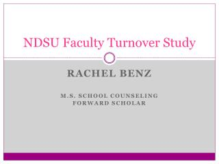 NDSU Faculty Turnover Study