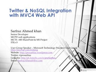 Twitter &  NoSQL  Integration with MVC4 Web API