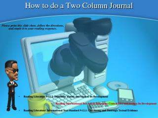 How to do a Two Column Journal