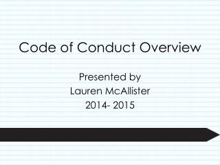 Code of Conduct Overview
