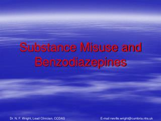Substance Misuse and Benzodiazepines