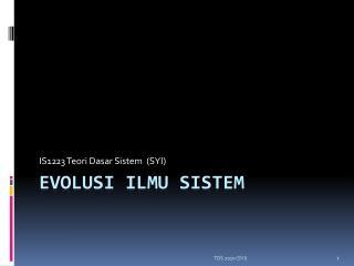 Evolusi ilmu sistem