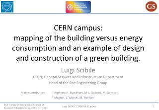 Luigi Scibile CERN, General Services and Infrastructure Department