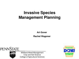 Invasive Species Management Planning