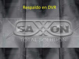 Respaldo en DVR