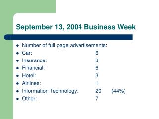 September 13, 2004 Business Week