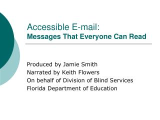 Accessible E-mail: