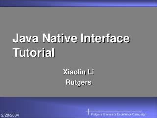Java Native Interface Tutorial