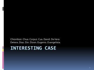 Interesting case