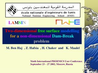 Ninth International PHOENICS User Conference  September 23 – 27 2002, Moscow, Russia