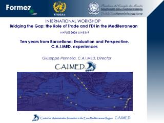 INTERNATIONAL WORKSHOP  Bridging the Gap: the Role of Trade and FDI in the Mediterranean