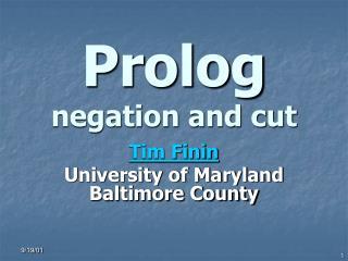 Prolog negation and cut