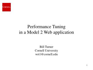 Performance Tuning in a Model 2 Web application