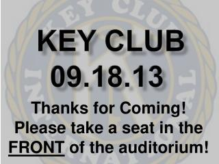 Key Club 09.18.13
