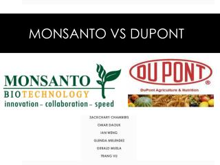 MONSANTO VS DUPONT