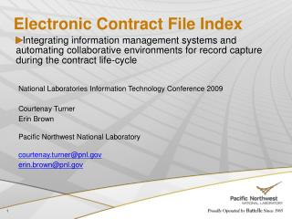Electronic Contract File Index