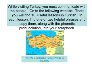The 100 Most Useful Turkish Words for Travelers