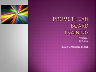 Promethean Board Training
