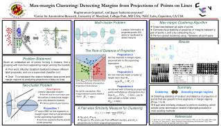 Clustering Detecting margin regions