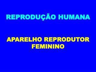 REPRODUÇÃO HUMANA APARELHO REPRODUTOR FEMININO