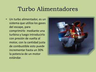 Turbo Alimentadores