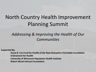 North Country Health Improvement Planning Summit