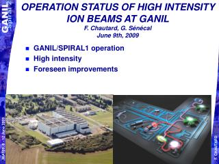 OPERATION STATUS OF HIGH INTENSITY ION BEAMS AT GANIL F. Chautard, G. Sénécal June 9th, 2009
