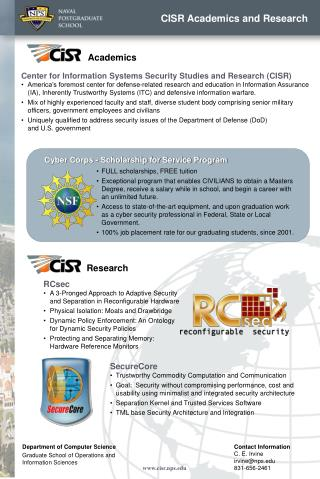 CISR Academics and Research