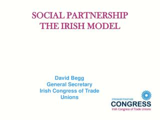 SOCIAL PARTNERSHIP THE IRISH MODEL